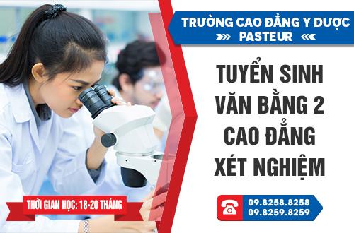 Trường Cao đẳng Y Dược Pastuer đào tạo ngành Xét nghiệm chất lượng