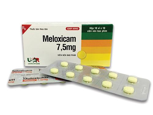Meloxicam có tác dụng giảm đau chống viêm